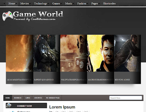 Game World Blogger Theme