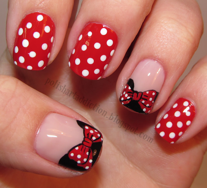 Cute Mickey and Minnie mouse   Nails   Pinterest   Disney nails, Kid ...