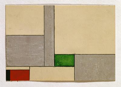 Georges Vantongerloo, Study, 1929, gouache on paper, 10.5 x 15 cm