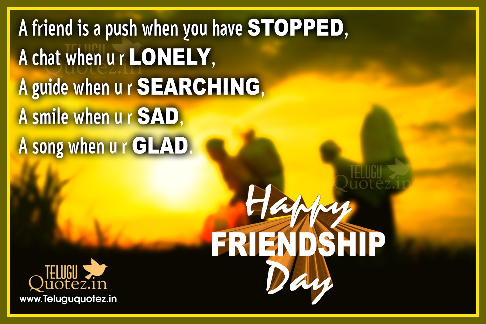 Happy Quotes About Friendship Unique Happy Friendship Day Sms Quotes Images  Teluguquotez.in Telugu