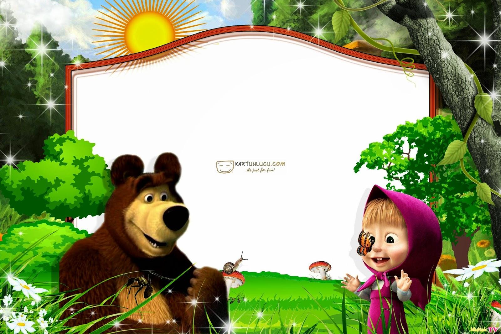 Маша и медведь  Фото в рамку  Вставить фото в рамку онлайн!