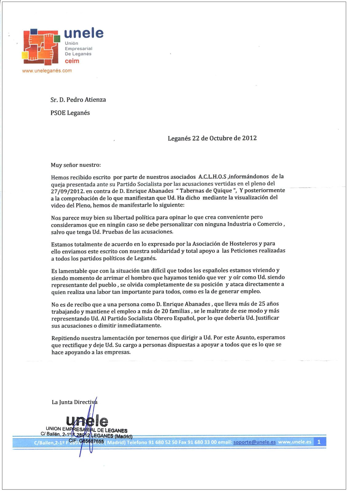 octubre 2012 ~ DLEGANÉS (Desde el exilio)