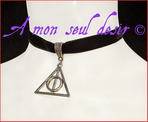 Collier Harry Potter Les Reliques de La Mort Poudlard Hogwarts The Deathly Hallows Necklace Choker