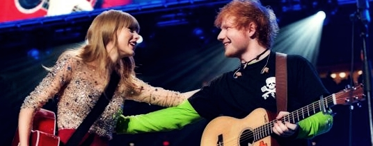 Taylor Swift e Ed Sheeran em Show