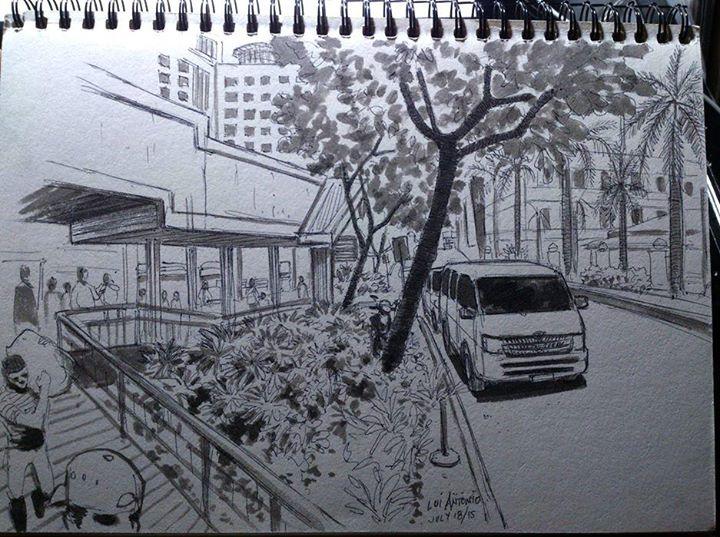 Urban Sketchers Manila Sketchwalk In Cubao (Sketching Not Allowed?)