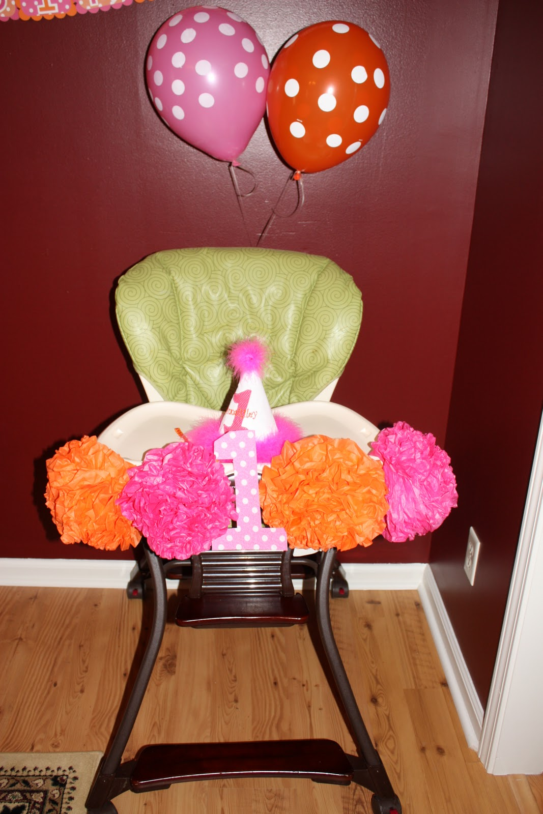 ... House: Anna Rileys 1st birthday party--The decorations & food
