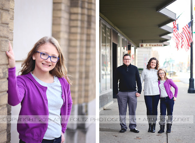 family photoshoot in downtown Terre Haute, Indiana