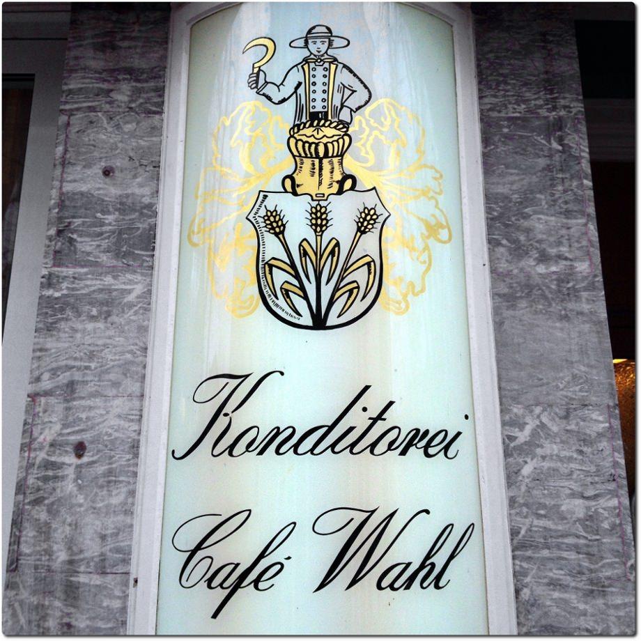 Das Café Wahl im Kurviertel in Bad Kreuznach.