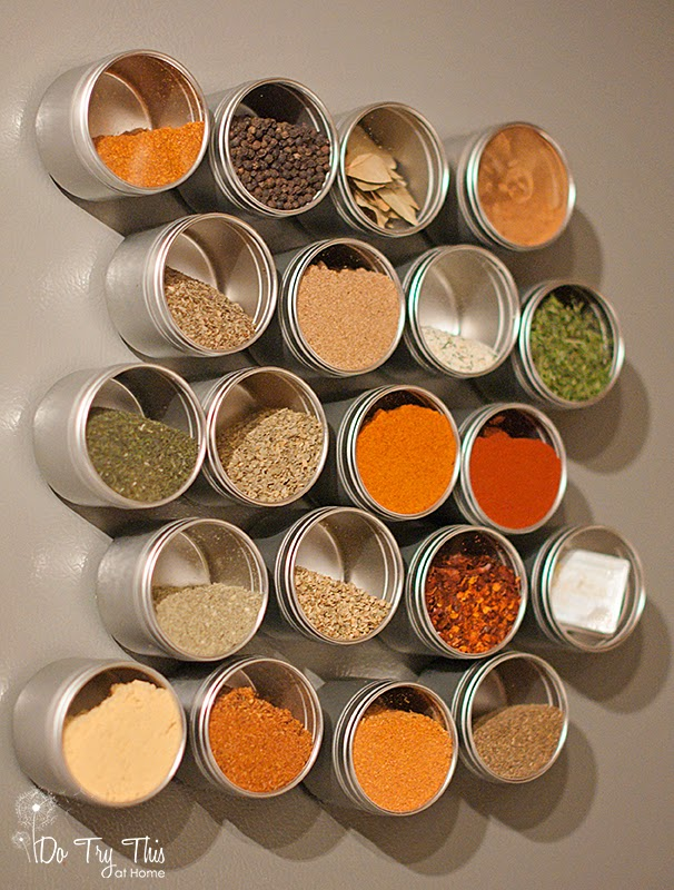 spice rack magnetic diy