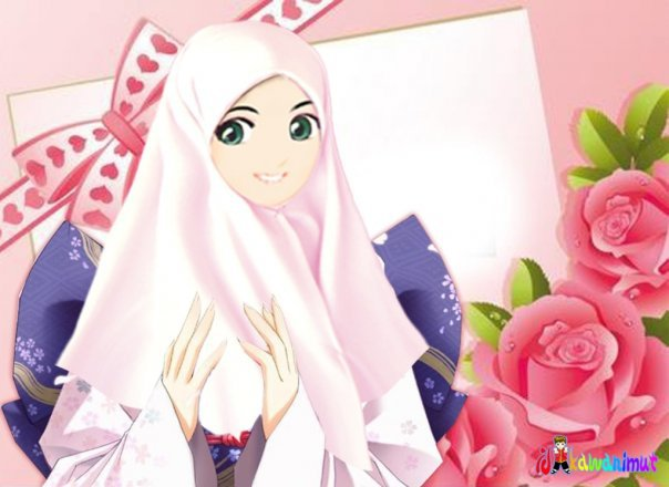 Ada juga karakter kartun Muslimah yang aktif dan ceria :