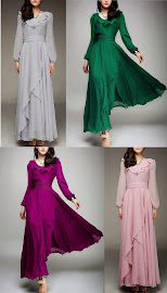 Long Sleeve Superior Quality Big Yards Chiffon Maxi