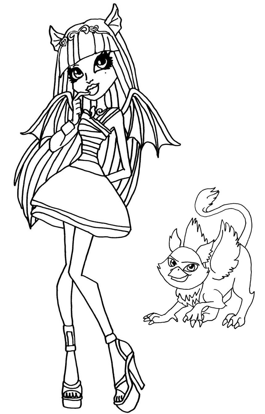 Dibujos para pintar de Rochelle Goyle Monster High