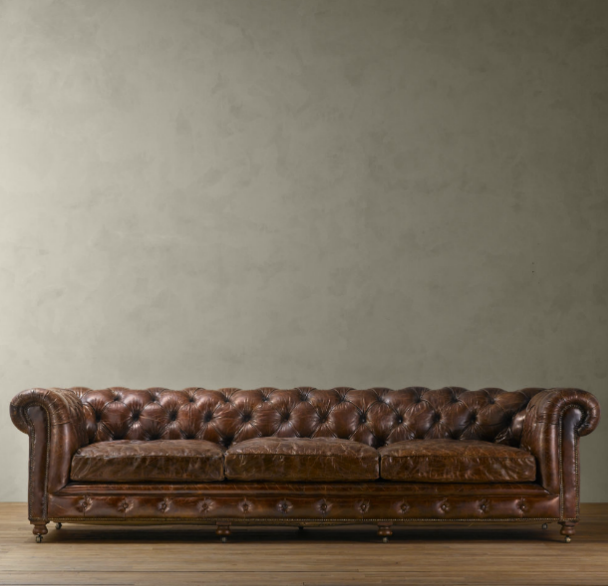 Restoration Hardware Leather : Copy cat chic restoration hardware kensington