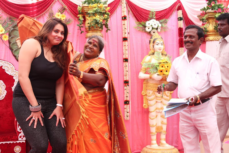 Namitha at JS Paradise Family Marriage Hall Launch Stills Photoshoot images