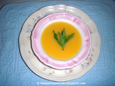 Margaret's Morsels | Orange Peach Soup