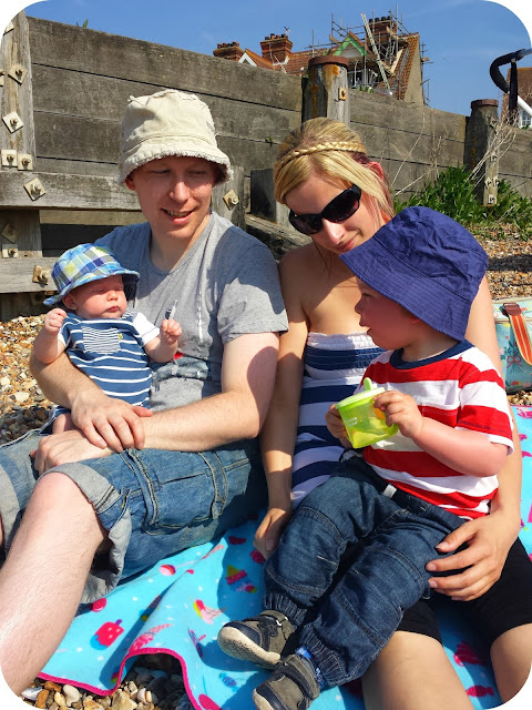 family photo, whitstable beach