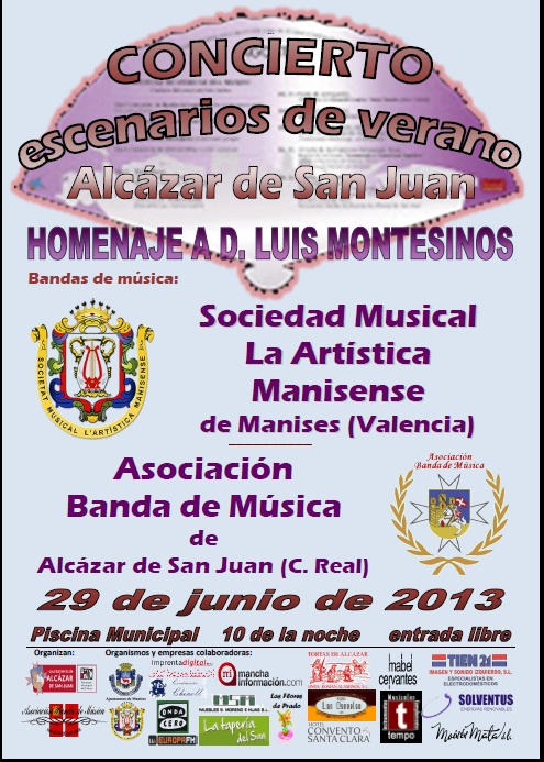 Banda de m sica de alc zar de san juan concierto homenaje for Piscina municipal manises