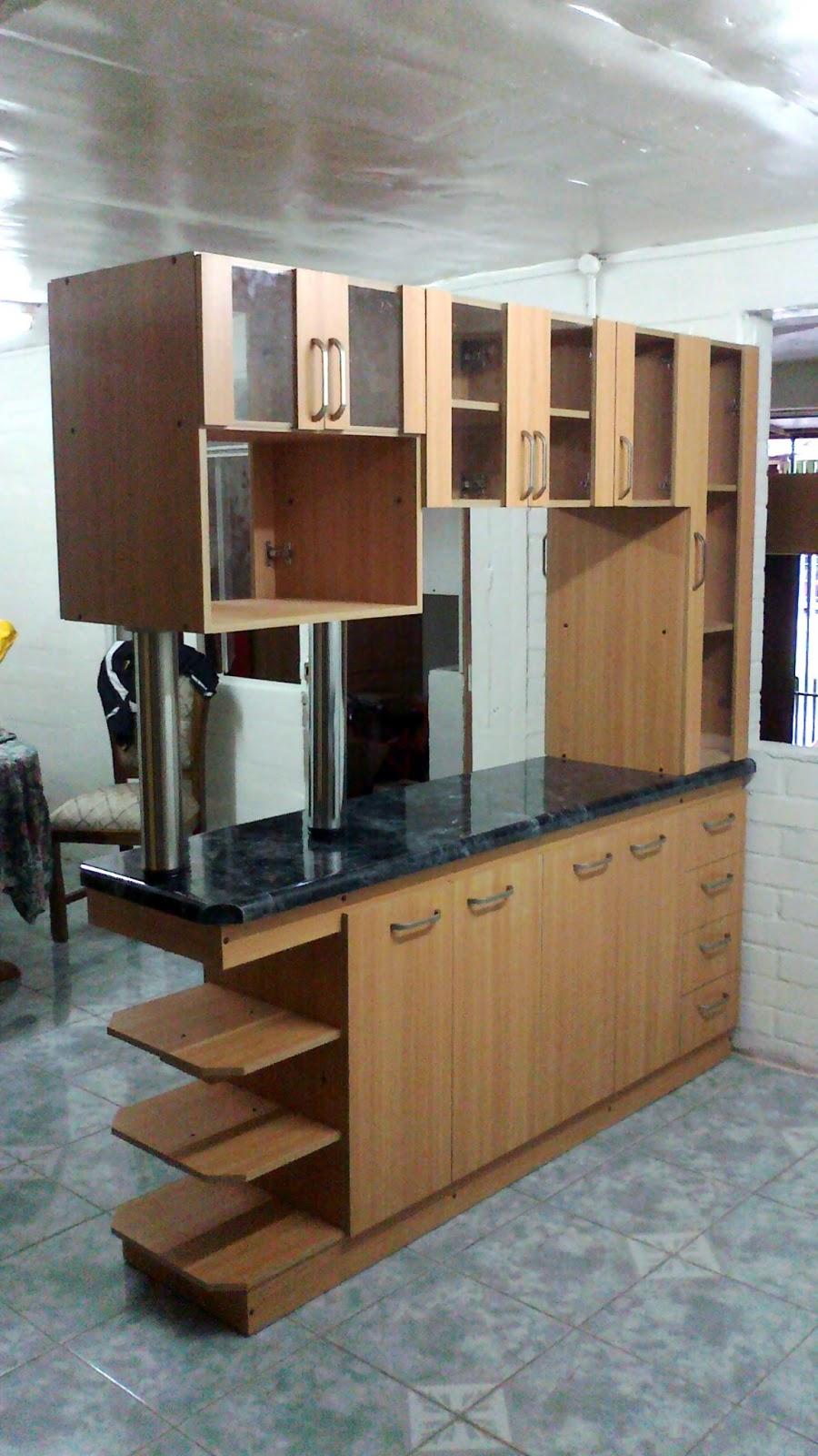 Silva e hijos mueble cocina americana for Muebles para cocina americana pequena