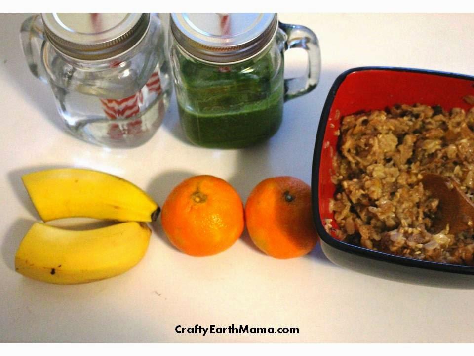 green juice, multigrain hot cereal
