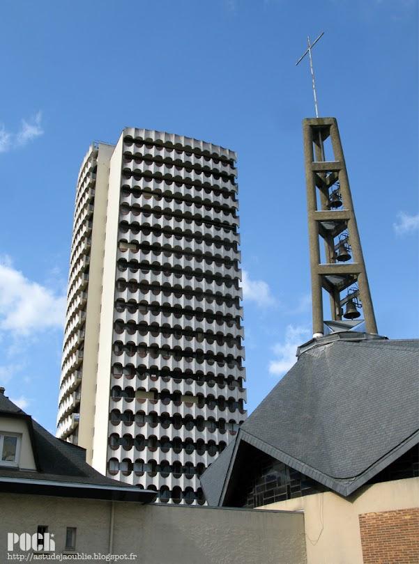 Rennes - Le belvédère, 37 rue de Brest.  Architecte: Georges Maillols  Construction: 1973