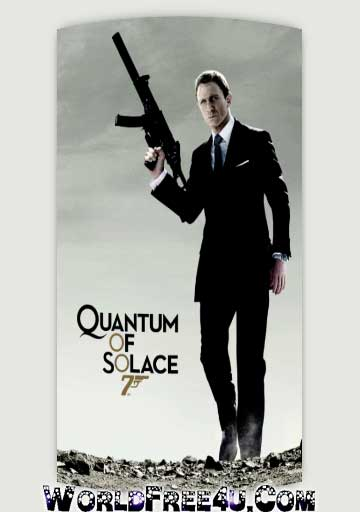 Poster Of James Bond Quantum of Solace (2008) In Hindi English Dual Audio 300MB Compressed Small Size Pc Movie Free Download Only At worldfree4u.com