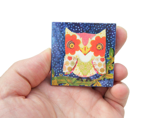 Night Owl Refrigerator Magnet by Silva Ware