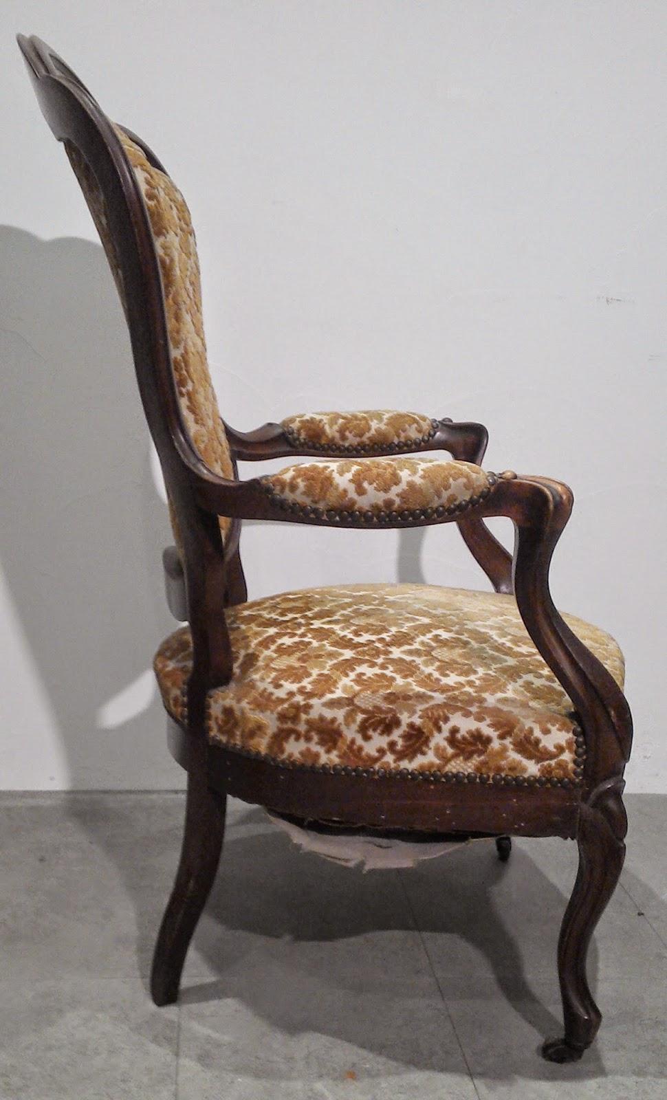 fauteuil louis philippe en noyer d 39 poque de style louis xv si ge bois sculpt ebay. Black Bedroom Furniture Sets. Home Design Ideas