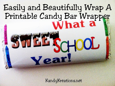 Be remembered as an amazing gift giver by easily and beautifully wrapping a printable candy bar wrapper for your friends and family.  They'll love when you say thank you, happy birthday, or good job with a chocolate candy bar.