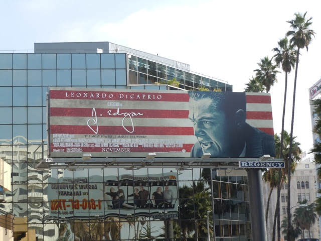 J Edgar movie billboard