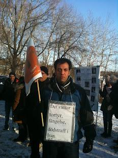 تظاهرات جلوسفارت ننگین جمهوری اسلامی در استکهلم2011