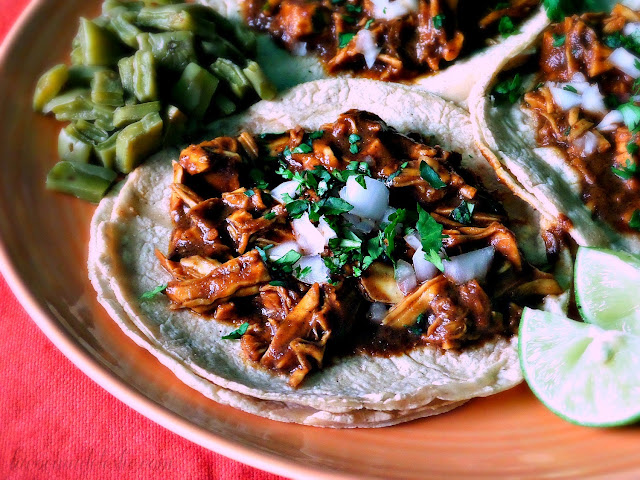 Tacos de Mole (Doña Maria) - lacocinadeleslie.com