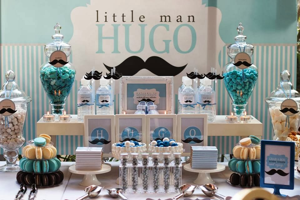 Little big company the blog a moustache themed baby welcome a full - Idee deco baby shower ...