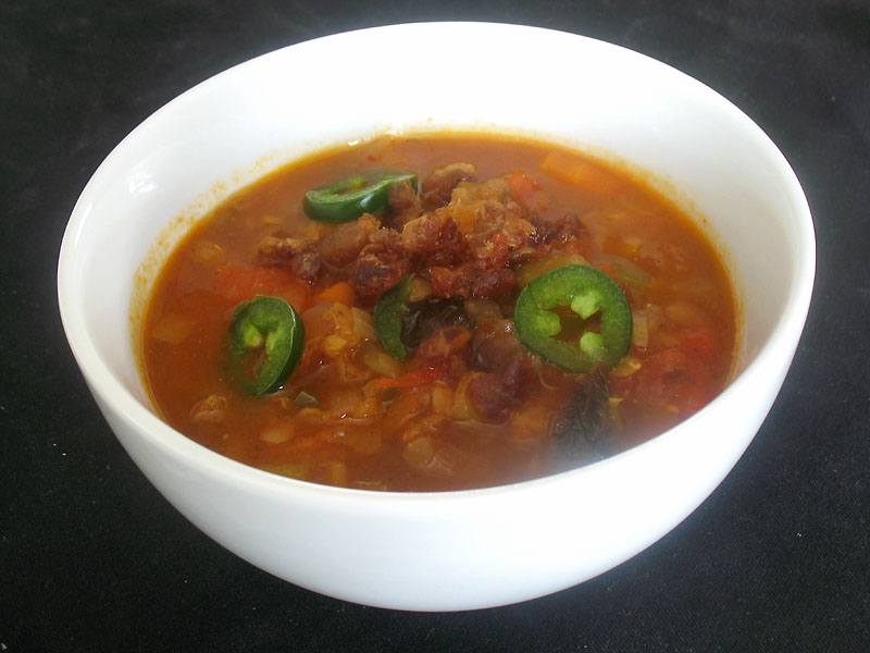 Roasted Red Pepper, Tomato and Lentil Soup with Dates and ...