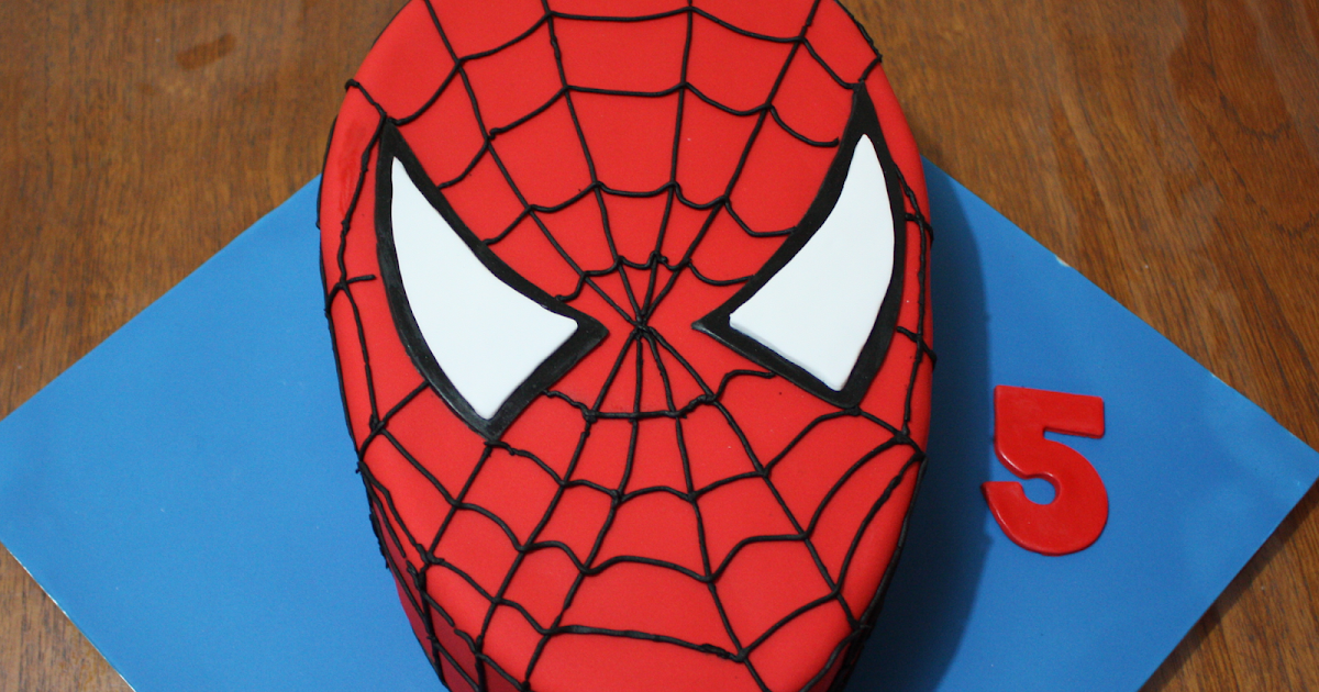 The flour bin how to make an easy spider man cake for Spiderman template for cake