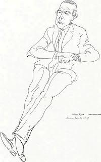Retrato de Salvador Espriu - Josep Pla-Narbona