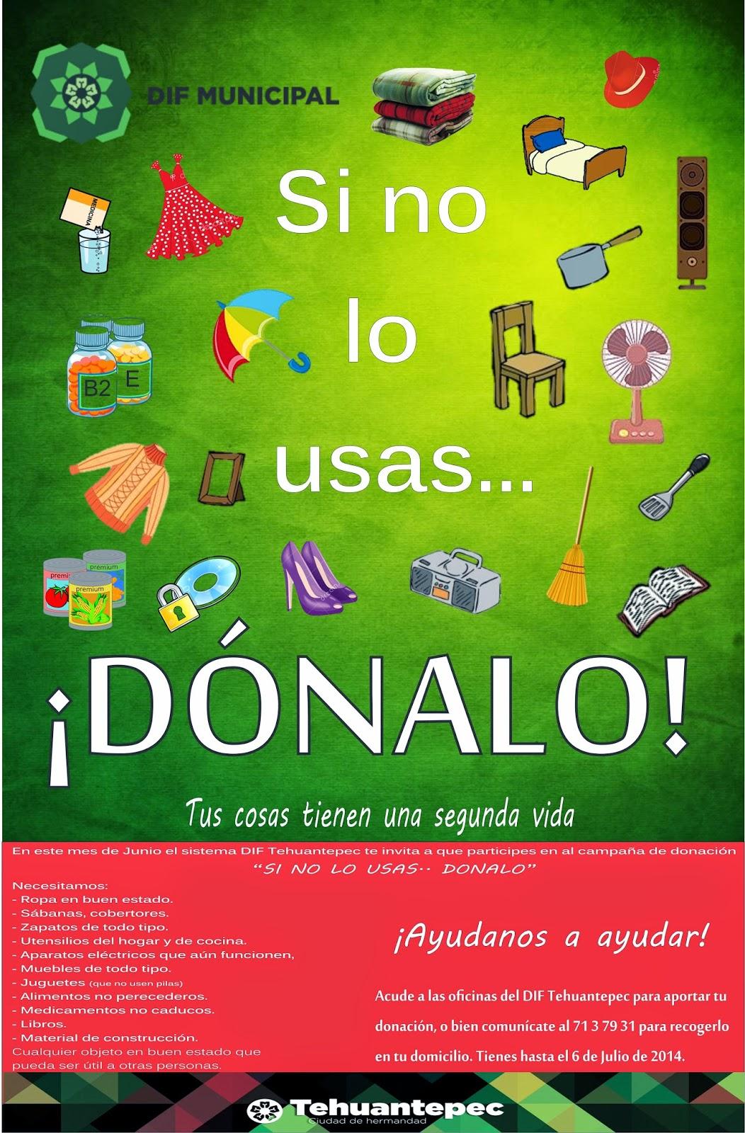 INICIA DIF DE TEHUANTEPEC CAMPAÑA DE DONACIÓN DE ARTÍCULOS ...