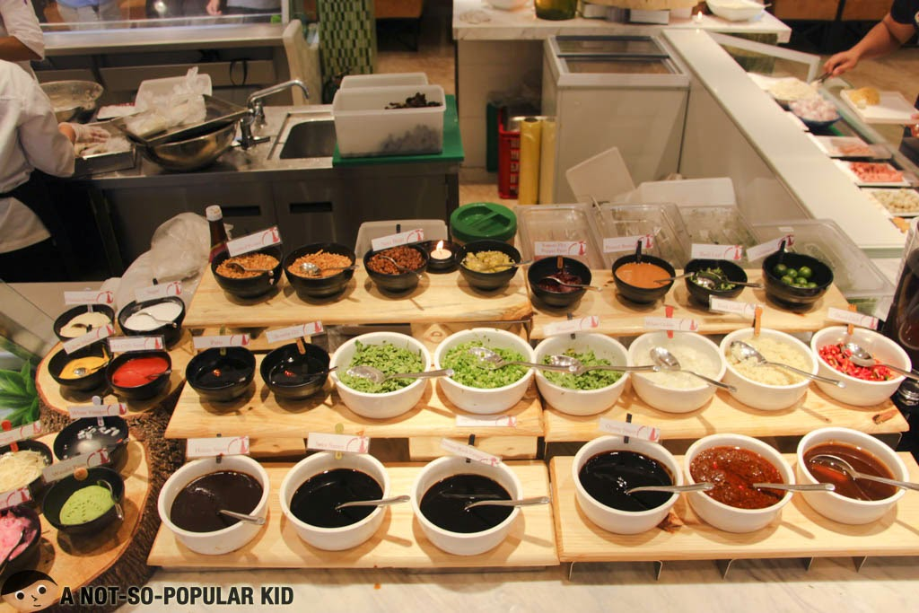 Collection of spices and sauces here in Four Seasons