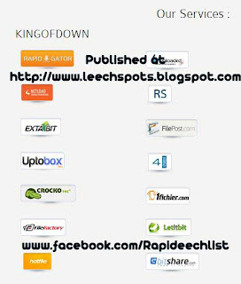 Rapidgator,Uploaded,Netload,Rapidshare,Extabit,Filepost,Uptobox,4shared,Crocko,Flefactory,Hotfile,Bitshare,Letibit
