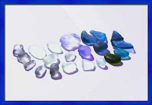Blue Sea Glass Beauties