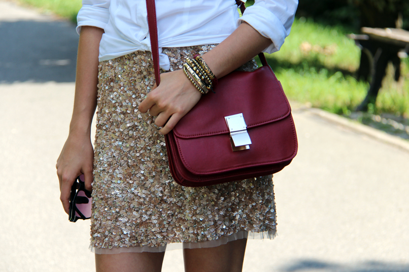 sequin skirt zara