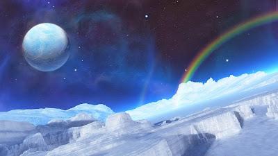 Papel de Parede Fantasia Paisagem de Gelo