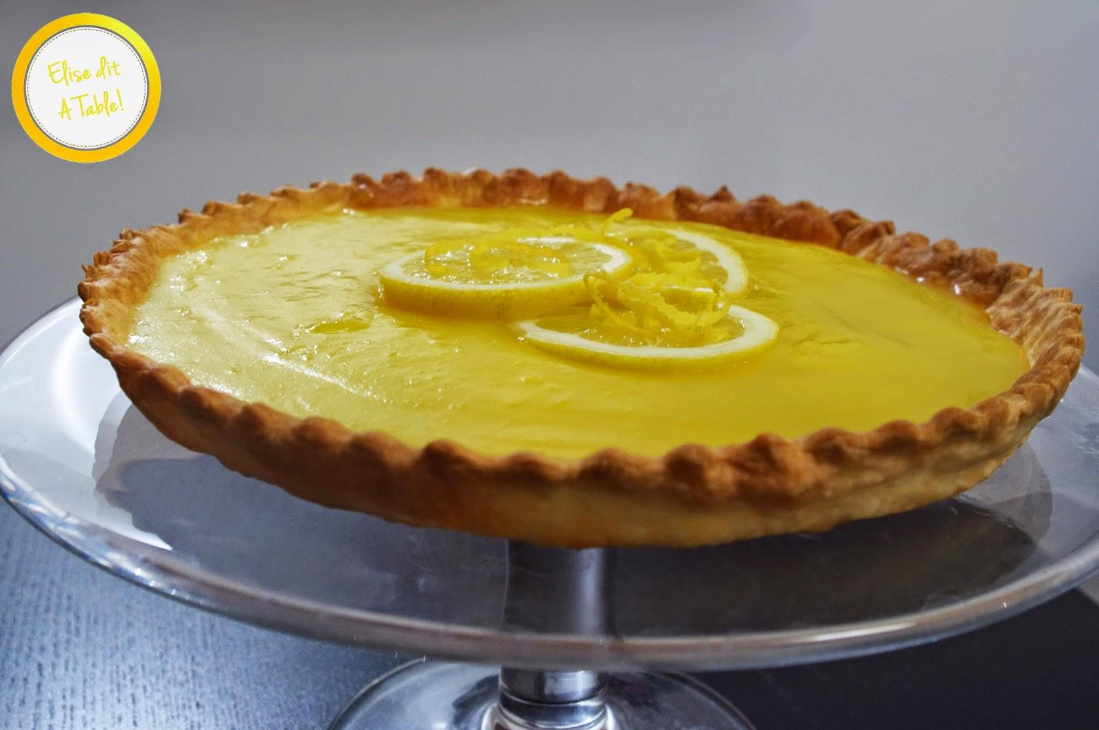 Recette tarte citron avec et sans meringue blog cuisine - Recette tarte au citron sans meringue ...
