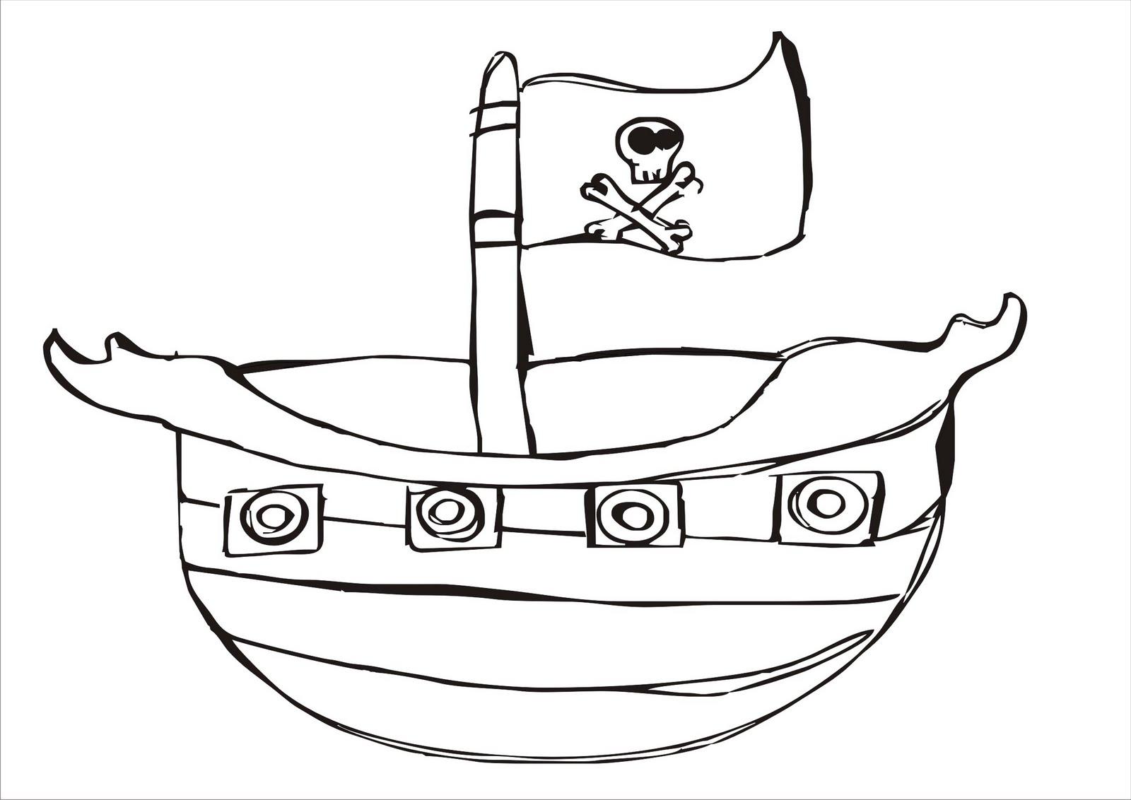 Desenho Para Colorir De Barco Pirata  Desenhos Diversos Para Colorir