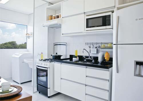 Decoração Dividindo a Cozinha e a Lavanderia  Cores da Casa -> Banheiros Planejados Sca
