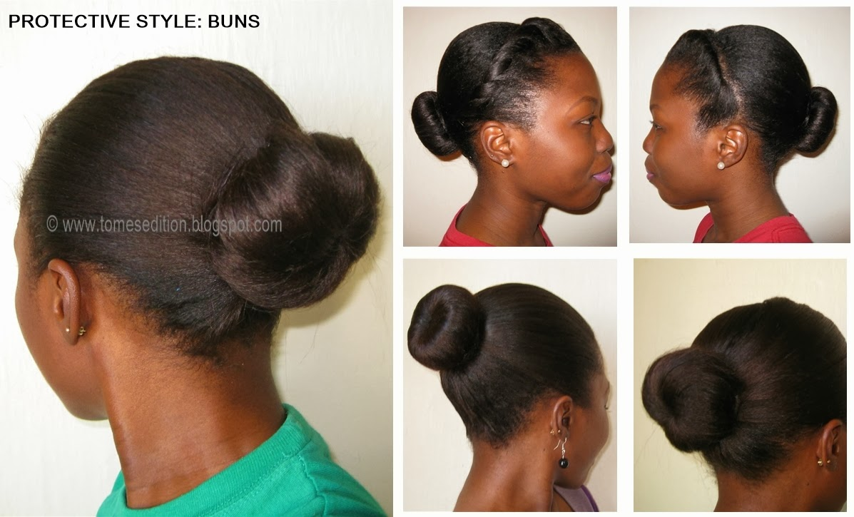 Easy Hairstyles For Medium Black Relaxed Hair : Edition protective hairstyles for relaxed texlaxed natural hair