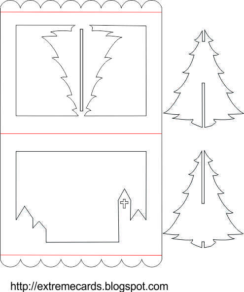3d Christmas Tree Template Cartes pop up pop up cards