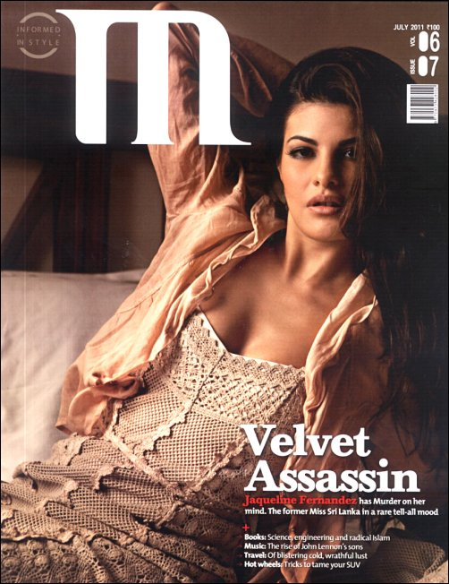 Jacqueline Fernandez On M Magazine Cover July 2011 Edition