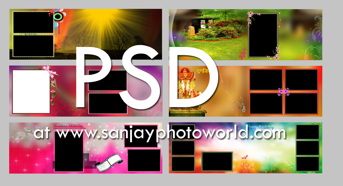 Sanjay Photo World psd Karizma wedding album designs vol 08 – Photo Album Templates Free
