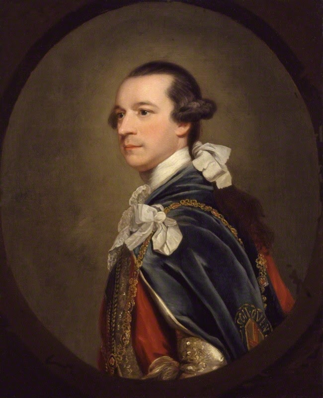 Charles Watson-Wentworth,2nd Marquess  of Rockingham after Sir Joshua Reynolds,  oil on canvas, feigned oval (c1768)  © NPG 406 (1)