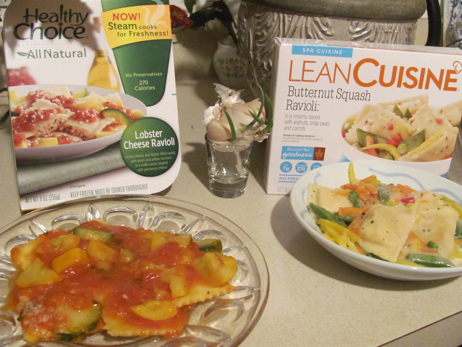 Foodette reviews snackdown healthy choice vs lean for Are lean cuisine healthy